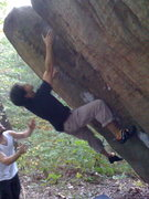 Rock Climbing Photo: Remo going for the sloper