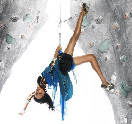Rock Climbing Photo: Yah I always go climbing in heels, snarf. This loo...