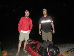 Rock Climbing Photo: Me and Lang putting in at String Lake headed to Mo...