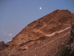 Rock Climbing Photo: South flank of Moran at sunrise