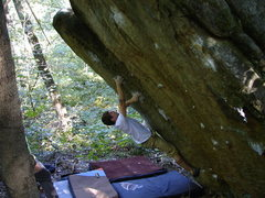 Rock Climbing Photo: Start on lower side pull in right side of photo.  ...