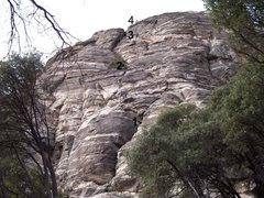 Rock Climbing Photo: The first 30' before the left traverse on P1 is no...