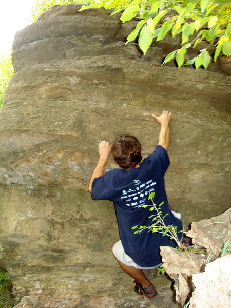 Rock Climbing Photo: Toad.  Left hand is on the starting crimper and ri...