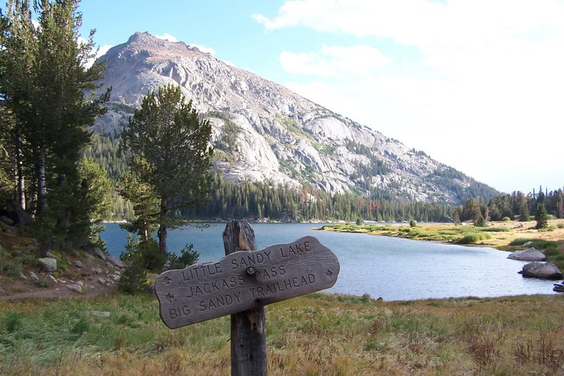 Rock Climbing Photo: Trail sign for Jackass Pass