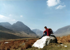 Rock Climbing Photo: Ogwen Valley, Snowdonia - with Tryfan in the backg...
