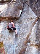 Rock Climbing Photo: Tayler heading towards lieback.