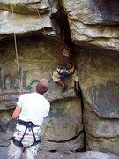 Rock Climbing Photo: Cameron on Don Quixote