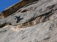 "Rock Climbing Photo: The juggy slab linking the overlaps on ""Riddl..."