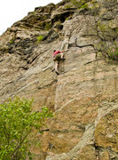 Rock Climbing Photo: Kirk Miller on his own route. Photo by Justin Wing...