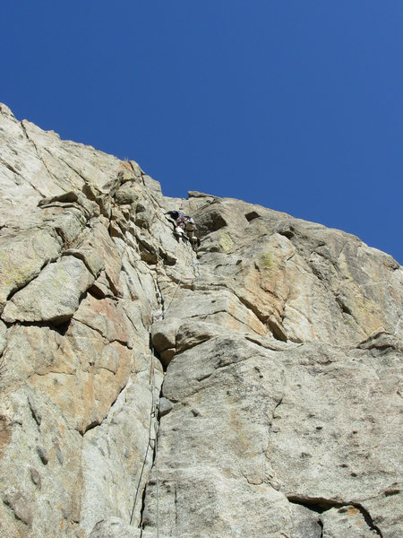 Good Weather and Fine Granite in Boulder Canyon.