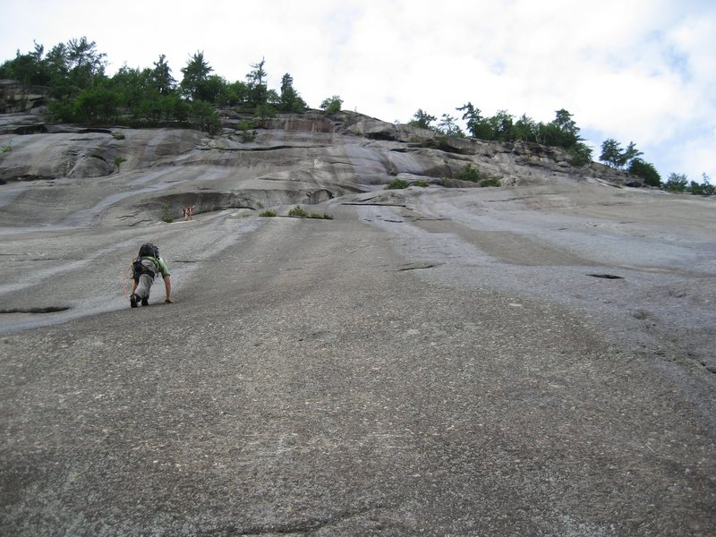 Rock Climbing Photo: Starting up the slabs.