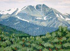 Rock Climbing Photo: A mural near Estes Park includes Ypsilon Mountain....