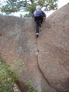 Rock Climbing Photo: Toping out.