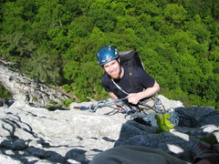 Rock Climbing Photo: coming up alcoa presents on the east side of Senec...