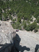 Rock Climbing Photo: coming up the third pitch of pear buttress.