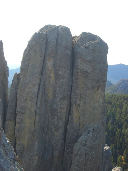 "Rock Climbing Photo: From Spire 5. ""Hang a Right"" is on the l..."