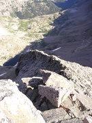 Rock Climbing Photo: Looking down the ridge.