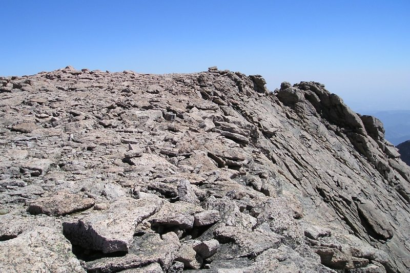 The summit of Long's Peak.