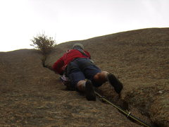 Rock Climbing Photo: Mike heading up a steep bit on pitch three, about ...