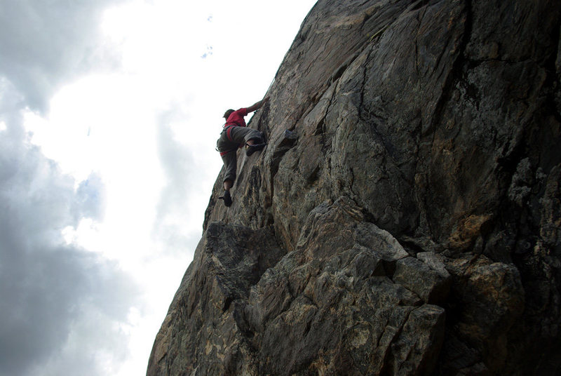 Rock Climbing Photo: This is the left of the two middle climbs. Very fu...
