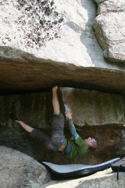 Rock Climbing Photo: the best prob in NH... prove me wrong...