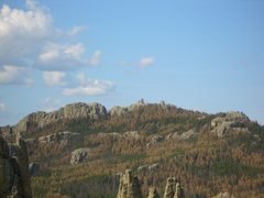 Rock Climbing Photo: Harney Peak from the Cathedral Spires