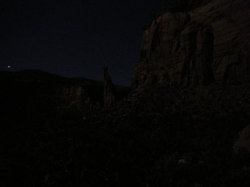 Rock Climbing Photo: Full moon in the valley.