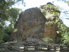 Rock Climbing Photo: Pinnacle Rock - From the road.  Directly in front ...