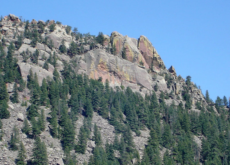 Rock Climbing Photo: Physical Crag as viewed from the west.