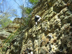 Rock Climbing Photo: my gf in moonbeam in March 08