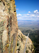 Rock Climbing Photo: view from top of the pillar