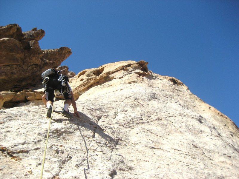 Rock Climbing Photo: Paul starting Pitch 3