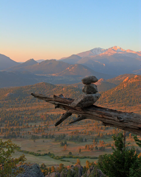 An Andy Goldsworthy style cairn at Batman Pinnacle.<br> <br> Photo by James Beissel, September 2008.