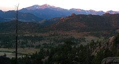 Rock Climbing Photo: Long's Peak from Lumpy Ridge.  Photo by James Beis...