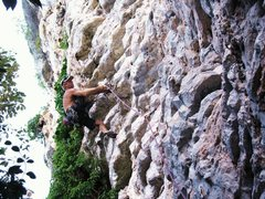 Rock Climbing Photo: Greg Martinez on Tonsi Tower horizontal jugs