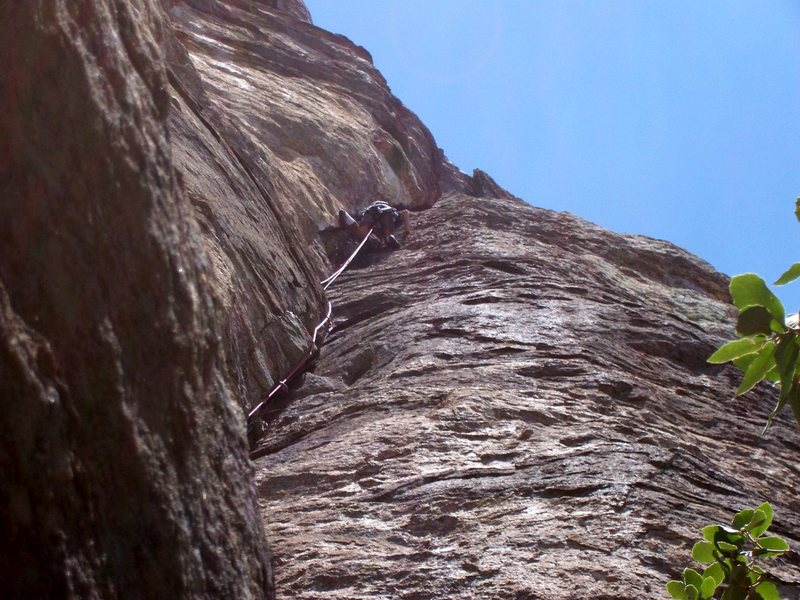 The long exciting crack on pitch 1.
