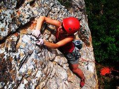 Rock Climbing Photo: Deanna Caradine on the Burnt