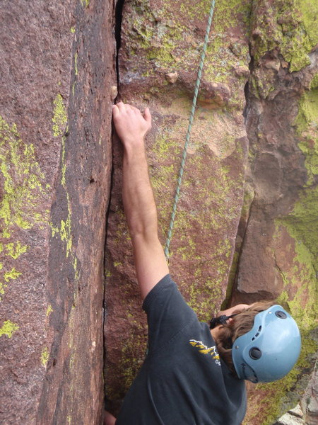 jake at the handcracker crux<br>