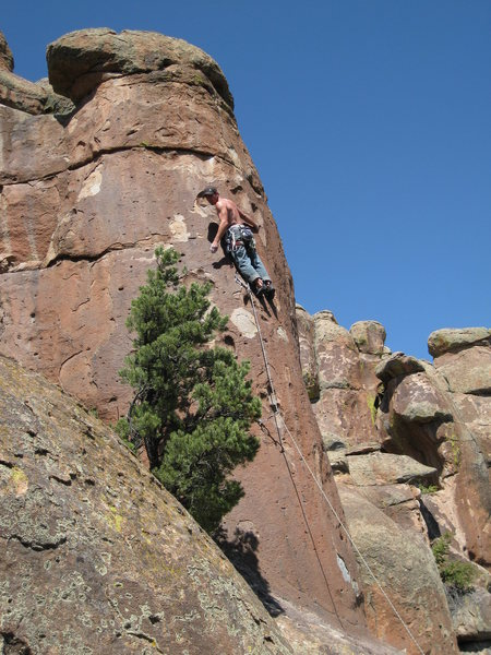 Rock Climbing Photo: Just above the second clip.