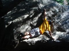 Rock Climbing Photo: Pressin' it out.