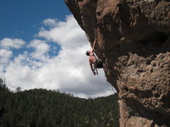 Rock Climbing Photo: Getting ready for the final crux of the climb. Sep...