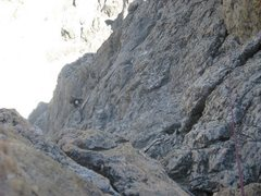 "Rock Climbing Photo: The second pitch of the slab section on the ""..."