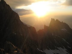 Rock Climbing Photo: The ridge from Teewinot to Mt. Owen in the morning