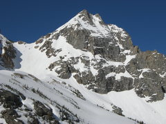 Rock Climbing Photo: The East Ridge route on Mt. Wister climbs snow to ...