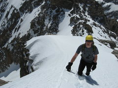 Rock Climbing Photo: Climbing towards the knife edge ridge.