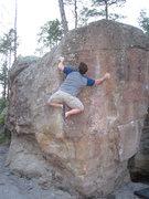 Rock Climbing Photo: Making one of several balancy moves on Nard Gargle...