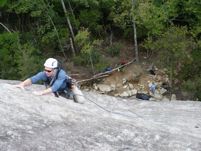 Rock Climbing Photo: Mike, with Brenna belaying, on the first pitch of ...