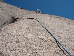 Rock Climbing Photo: Jo Bubba looking up, see the groove to the left, I...