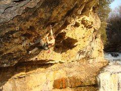 Rock Climbing Photo: About half way
