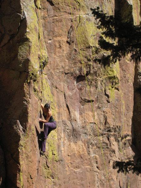 Rock Climbing Photo: Starting the crux.